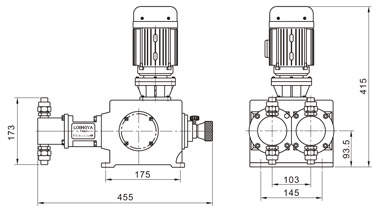 2J-X系列柱塞式计量泵安装尺寸